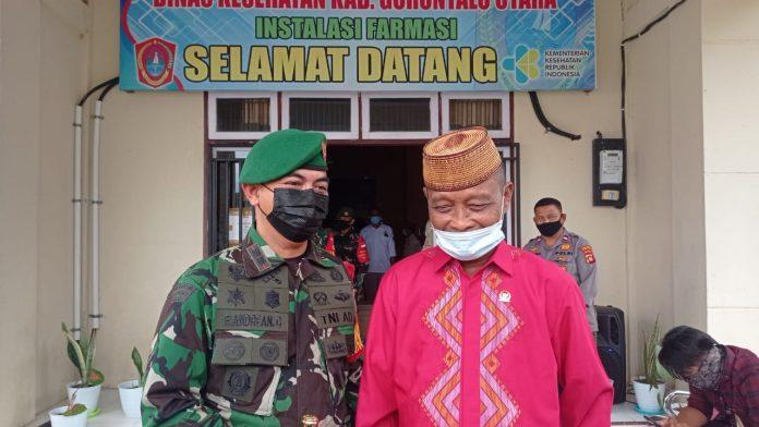 Ketua DPRD Gorontalo Utara Bersama Dandim Gorut