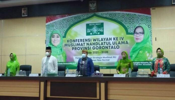 Konferensi Wilayah IV Muslimat NU Gorontalo Dibuka Wakil Gubernur Gorontalo