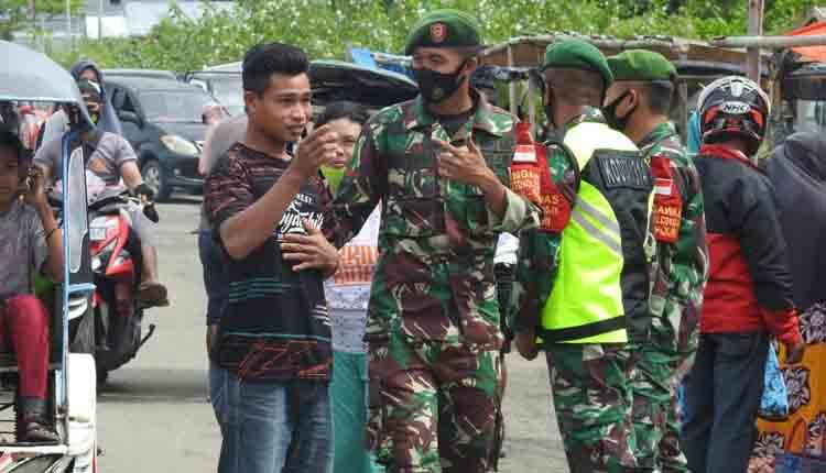 Kodim 1314 Gorontalo Utara Gelar Penertiban Protokol Kesehatan Covid-19