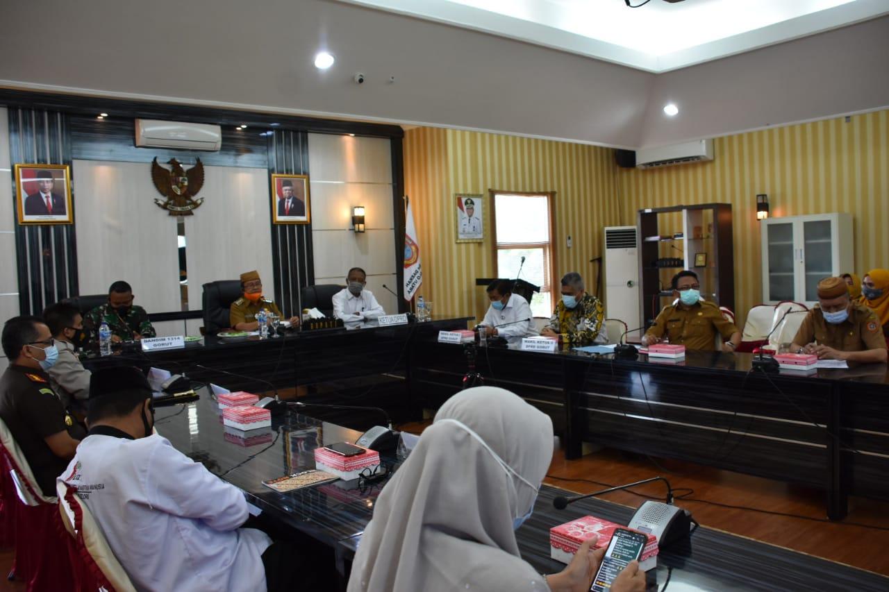 Rapat Koordinasi Persiapan Vaksinasi Covid-19 di Kabupaten Gorontalo Utara