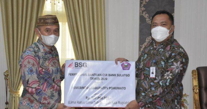 Pemkab Pohuwato Terima Dana CSR dari PT. Bank SulutGo