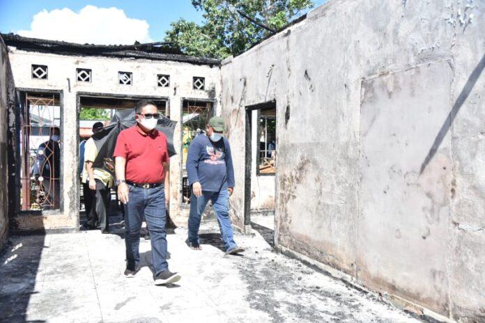 Gerak Cepat, Pemkot Bersama Baznas Beri Bantuan Korban Kebakaran di Tanggikiki