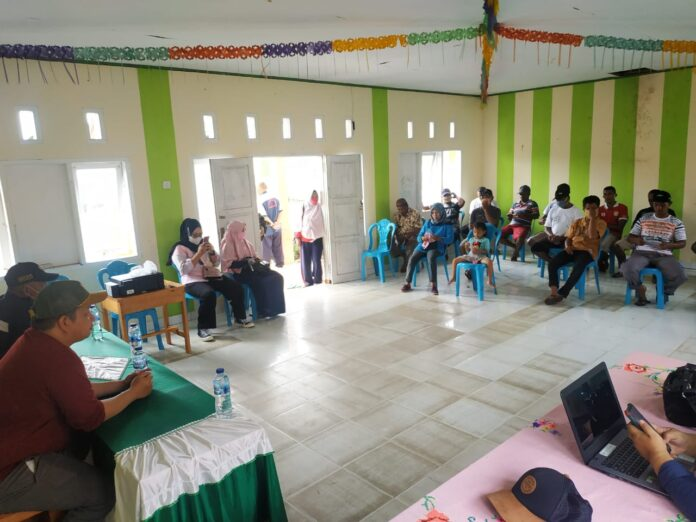DKP Gorut Lakukan Pelayanan Usaha di Kecamatan Tolinggula