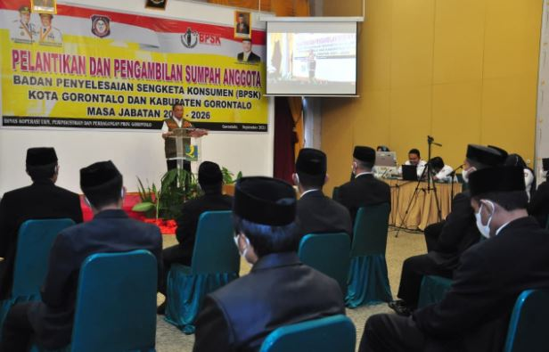 Anggota BPSK Kota dan Kabupaten Gorontalo dilantik Wakil Gubernur