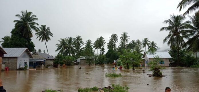 Sungai di Biau Meluap, Sejulah Rumah Terendam Banjir