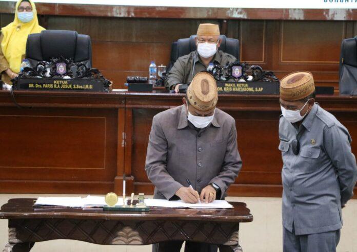 Disetujui, KUA PPAS APBD Provinsi Gorontalo Tahun 2022 Sebesar Rp1,7 Triliun