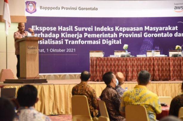 Hasil Survei IKM terhadap Kinerja Pemerintah Provinsi Gorontalo dirilis
