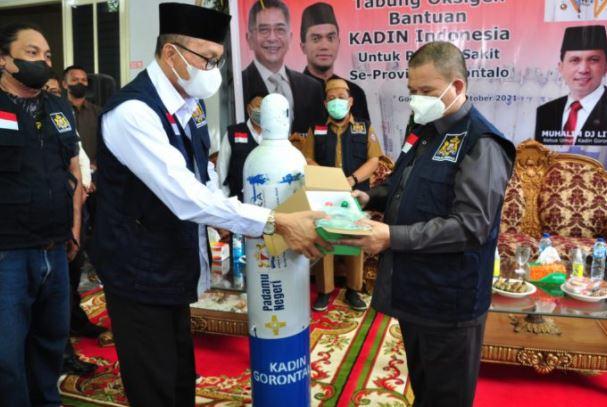 Semua Rumah Sakit di Gorontalo dapat Bantuan Oksigen dari KADIN